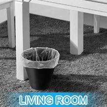 Living room garbage bag