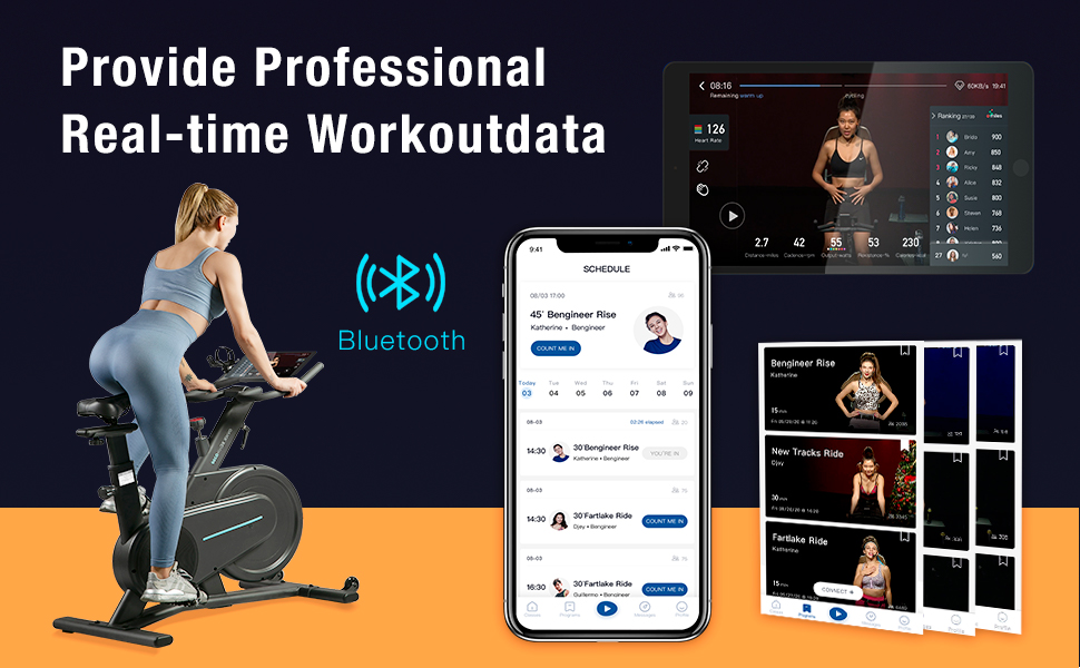exercise bike with bluetooth