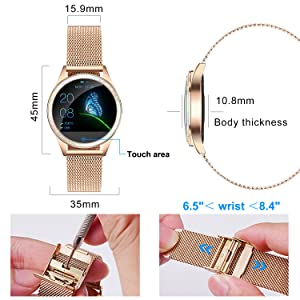 e  Yocuby Smart Watch for Women,Bluetooth Fitness Tracker Compatible with iOS,Android Phone, Sport Activity Tracker with Sleep/Heart Rate Monitor, Calorie Counter 8dd90ab2 7faf 4434 bcf6 31dfb726bd34