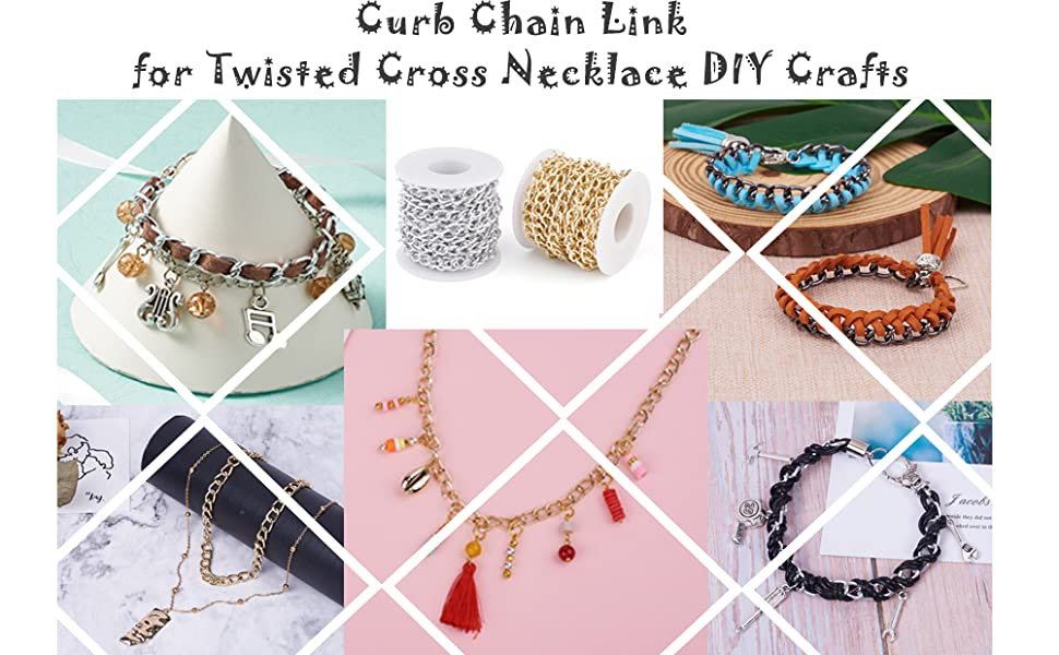 Twist Cross Chains fit for most DIY jewelry necklace/ bracelets