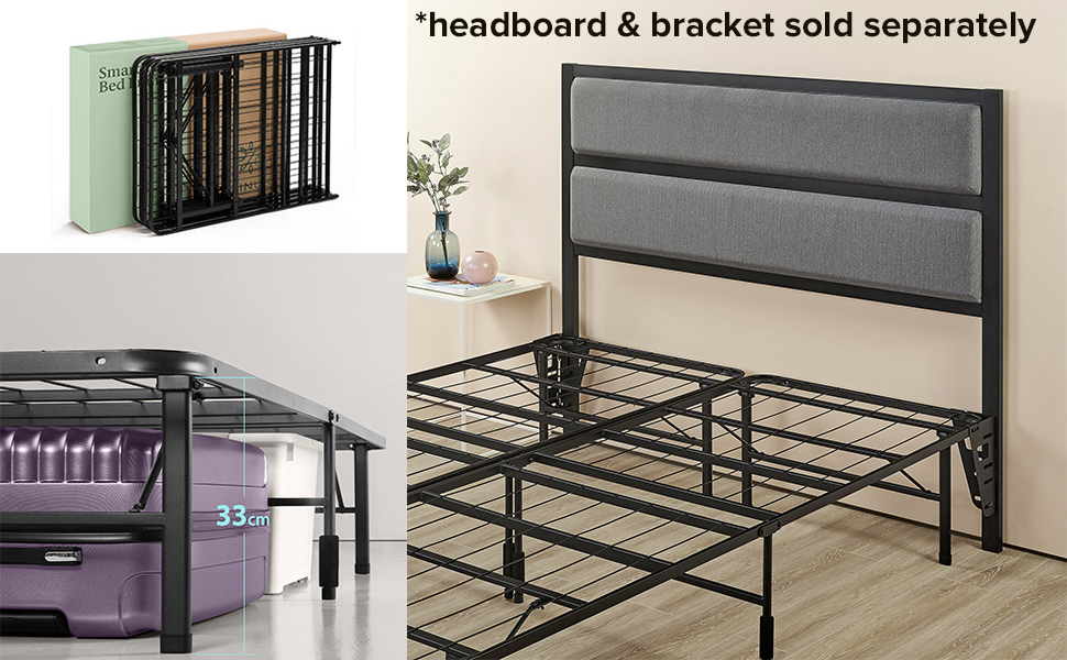 Zinus smartbase storage space and additional headboard available to purchase separately