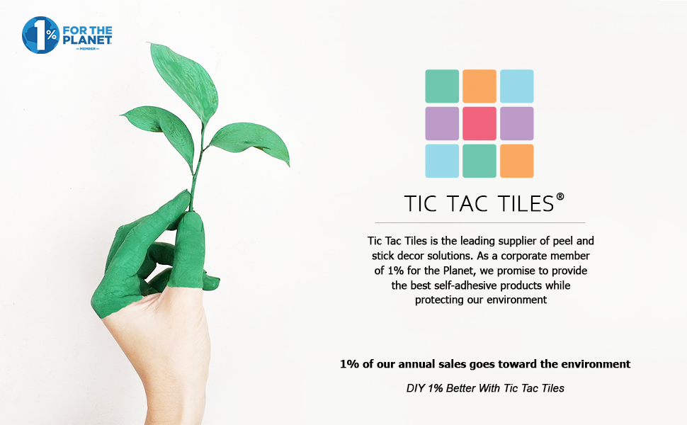 tic tac tiles one percent for the planet