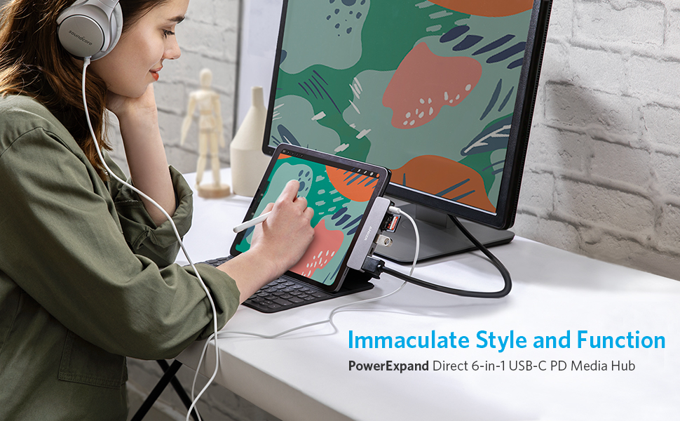 Anker PowerExpand Direct 6-in-1 USB-C PD メディア ハブ