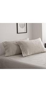 linen pillow shams