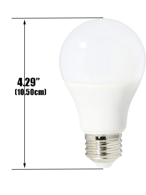 Standard Replacement Energy-Saving Light Bulbs 60W Equivalent 800 Lumens Soft White LESNIC 5 Pack A19 Light Bulb LED UL Listed 3000K E26 9W Non-dimmable