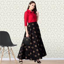 Elegant Top Skirt Set