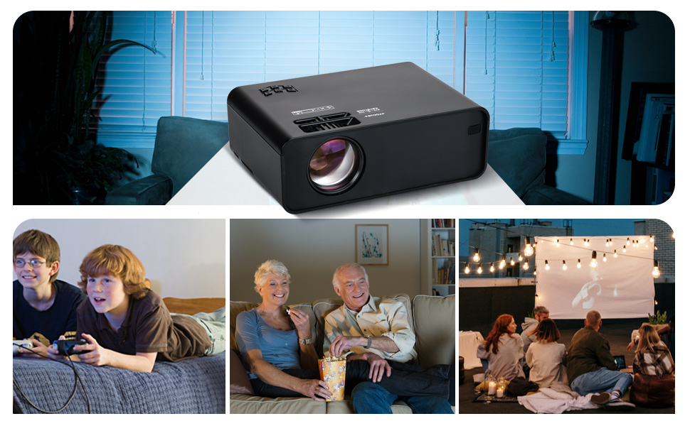 Projector, Mini Proyector Portátil LCD Home Cinema 5000 lumene Support 1080P WiFi Projector, Compatible with TV Stick, PS4, HDMI, Laptop, iPhone,teléfono Android: Amazon.es: Electrónica