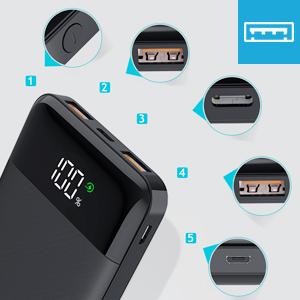モバイルバッテリー 3ポート