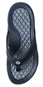 Lakeside Grey Comfort sandal flip flop expensive luxury arch support
