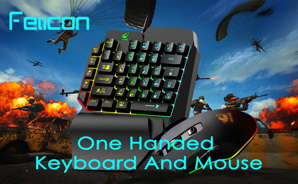 FELiCON One Handed Keyboard And Mouse