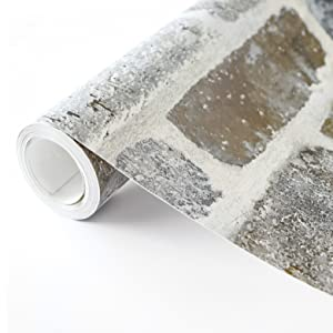 peel and stick, peel and stick wallpaper, brick wallpaper, brick peel and stick, faux brick, decor