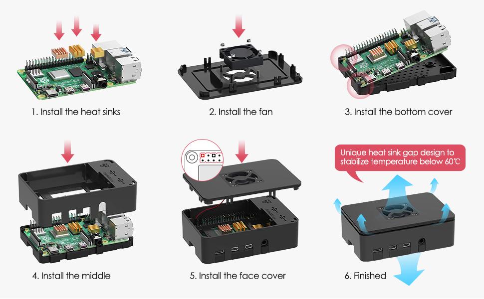 TICTID Raspberry Pi 4 Modelo B 2GB Starter Kit, Versión Actualizada de Raspberry pi 3 con Tarjeta MicroSD de 32GB ...