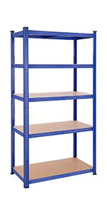 SONGMICS Estantería Metálica para Almacenar de pie 5 Estantes 650 kg 75 x 30 x 150 cm GLR30Q: Amazon.es: Bricolaje y herramientas