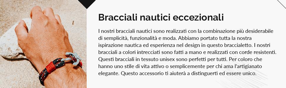 I nostri braccialetti nautici sono realizzati con materiali di alta qualità