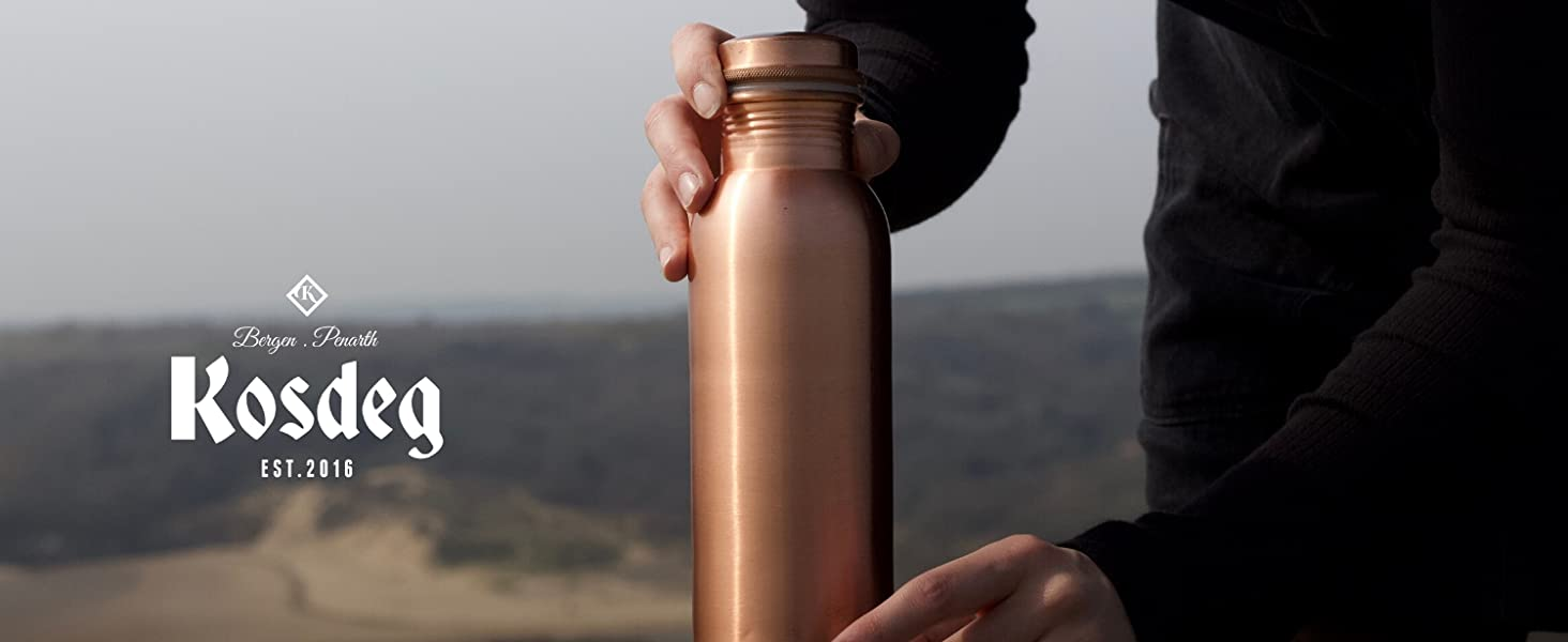 Water bottle made from copper, cooper Water Bootle, Bootle for water, watre drinking bottle