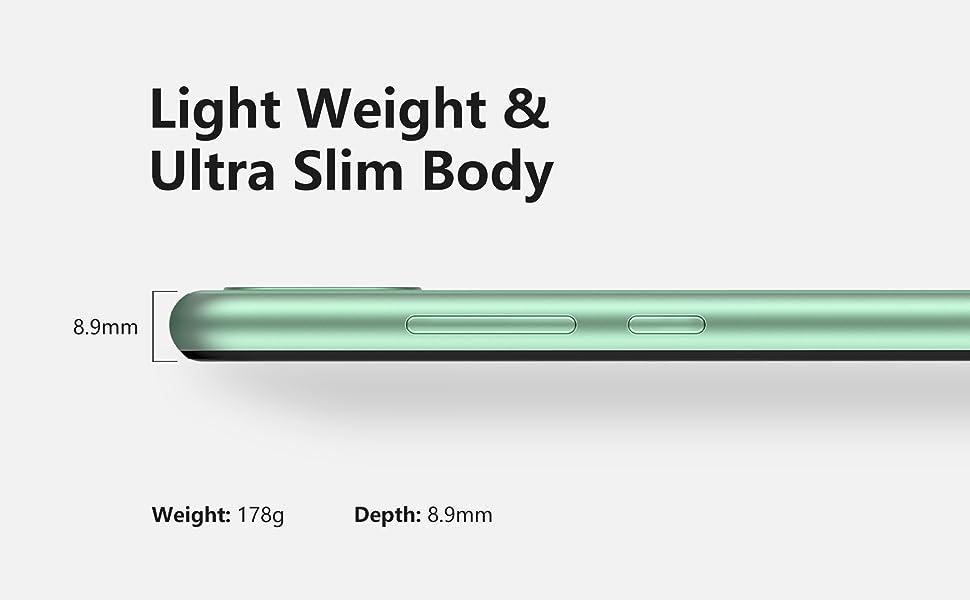 Ultra-thin body, lighter weight