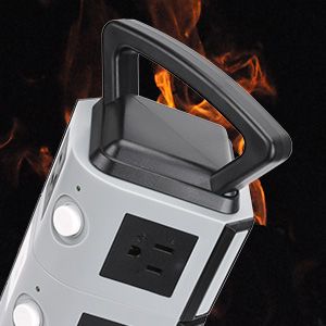 With fireproof material, this vertical power hub is very safe to use.