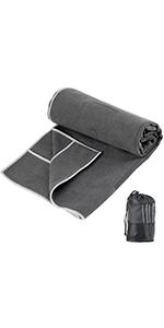 Corner Pockets Design Yoga Towel