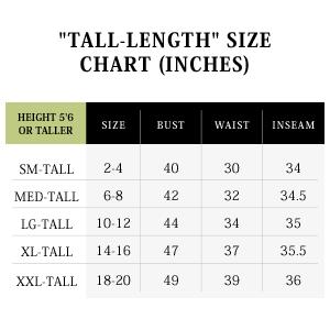 jijamas tall size chart