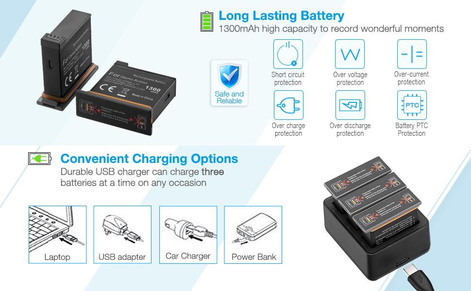 DJI OSMO action battery charger