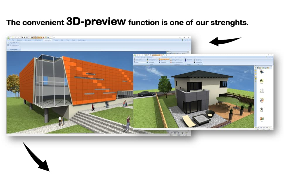 the convenient 3d preview function is one of our strenghts