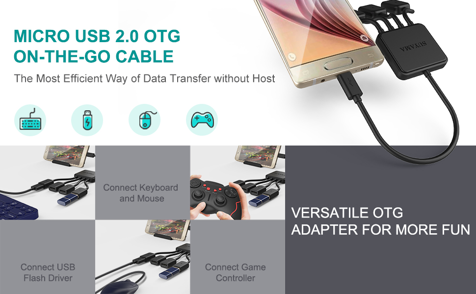 Micro USB to OTG Works with NEC N-01D Medias PP Direct On-The-Go Connection Kit and Cable Adapter! Black