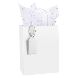 paper bags with tags
