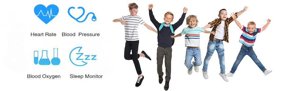 fitness tracker for kids HR BP BO SM