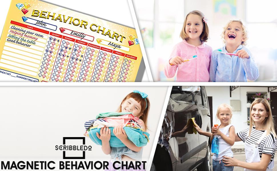 Chore chart for kids multiple kids Dry erase white board whiteboard wipe off chart behavior
