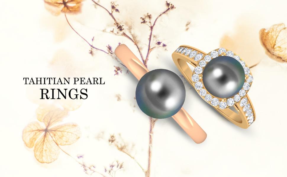 banner Tahitian Pearl Rings