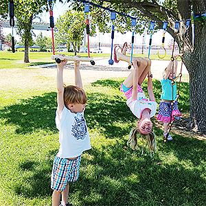 ninja line slackline kit ninja warrior tree obstacle course playground equipment monkey bars line