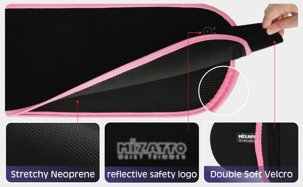 Mizatto sweat band waist trainer for women