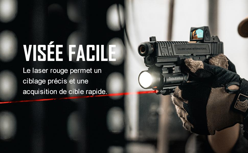 Olight Baldr RL Blanc DEL Lampe de poche laser rouge pistolet Lumière avec 2x piles