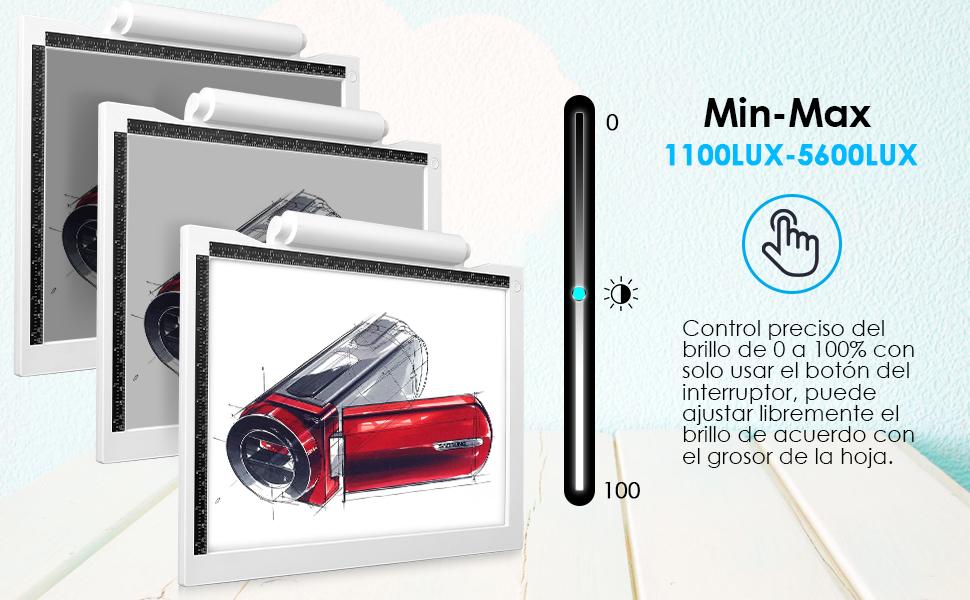 AGM Mesa de Luz Dibujo A4, LED Tableta de Luz, Tablero de Trazado ...