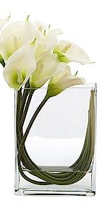 rectangular block vase terrarium centerpiece square