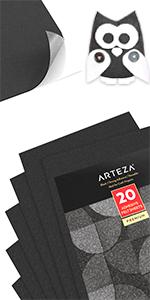 ARTZ-8669_Black_Adhesive_Felt_Fabric_Sheets_Set_20