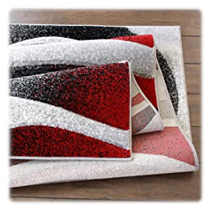 masada rugs modern collection grey red turquoise black white area rug
