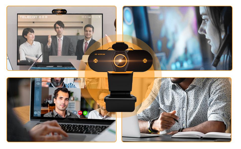 Cámara web  (2021 Nuevo modelo)Cheelom Video Cámara Web1080P Trípode Full HD USB,Webcam de Conferencia USB Ajustable con Micrófono Incoprado Computadora Portátil Cámara para OBS Xbox XSplit Skype Facebook Compatible con Mac OS Windows 10/8/7 8e37986d a117 4b1e a4a8 9553fb00036e