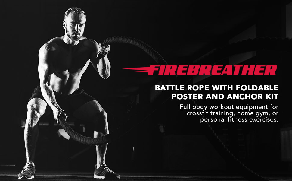 battle ropes FireBreather battle ropes for exercises battle ropes with anchor kit workout rope