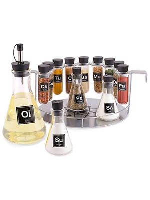 spice rack, chemistry spice rack, science spice rack, spice rack flasks lab, wink, wild eye designs
