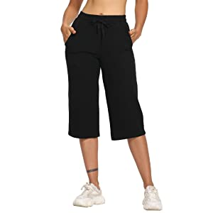 CQC Womens Active Yoga Lounge Bermuda Shorts Athletic Workout Running Pants 5//10//19 with Pockets