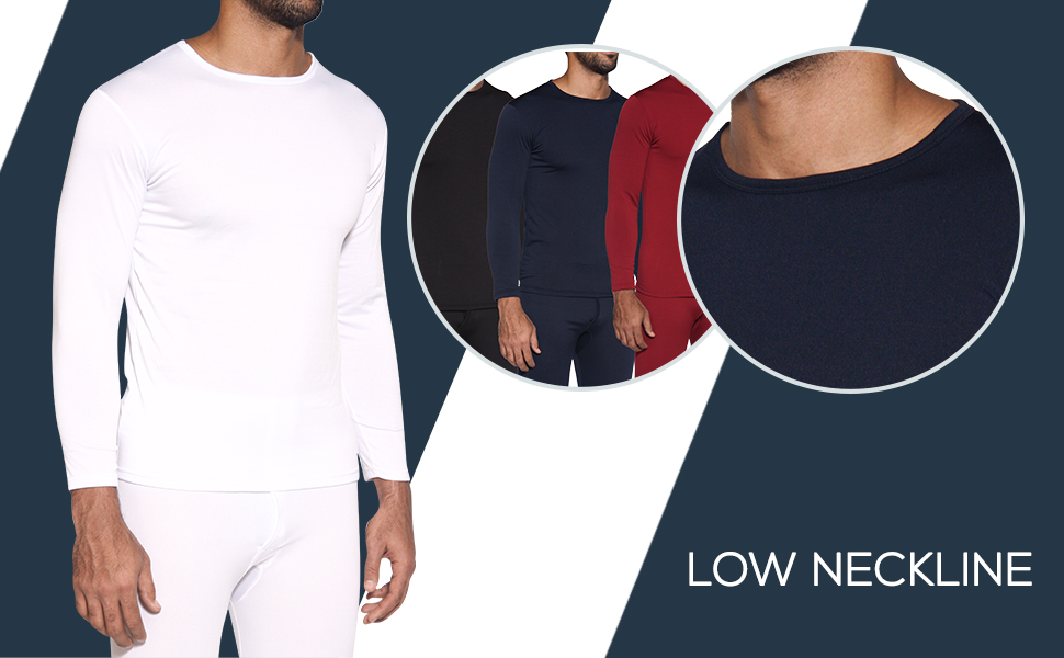 Real Essentials Men's 3 Pack Ultra-Soft thermal top is crafted with 100% ultra-soft polyester.