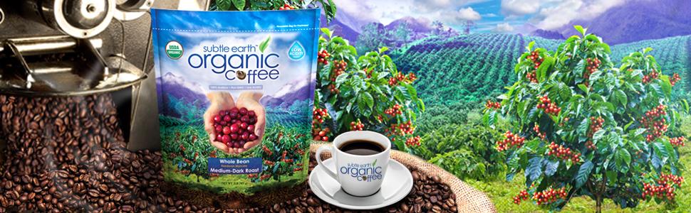 subtle earth organic coffee beans