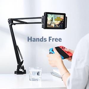 UGREEN Tablet Mount Lazy Holder Adjustable Long Arm Clamp