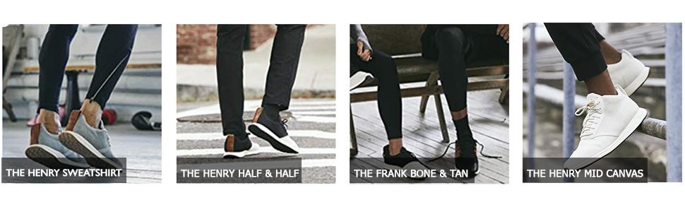 York Athletics - Henry swaetshirt, henry half & half, frank bone & tan, henry mid canvas