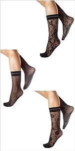 calze, calzini donna, calzini velati, calze velate, calzini a fiori, calzini trasparenti