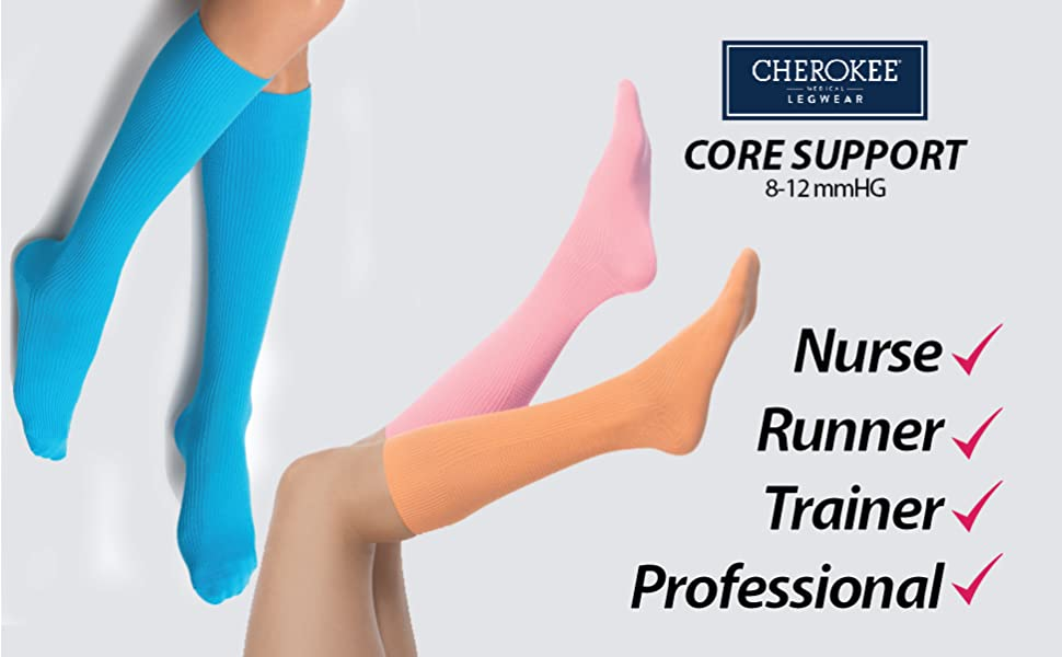 Core Support Women's Healthcare Professional Socks