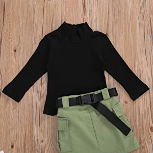 Toddler Kids Baby Girl Clothes Long Sleeve Knit Sweater Pullover Tops+A-line Skirt Winter Spring Outfits Set