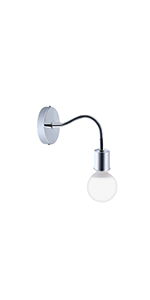 Bonlux Industrial Wall Sconce Fixture E26 Adjustable Wall Lamp Holder