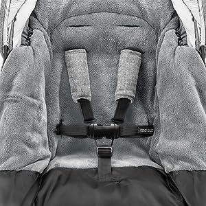 Zamboo Winter Fußsack 3m Für Kinderwagen Buggy Winterfußsack Mit Warmer Thinsulate Füllung Anti Rutsch Beschichtung Mumien Kapuze Und Tasche Grau Baby